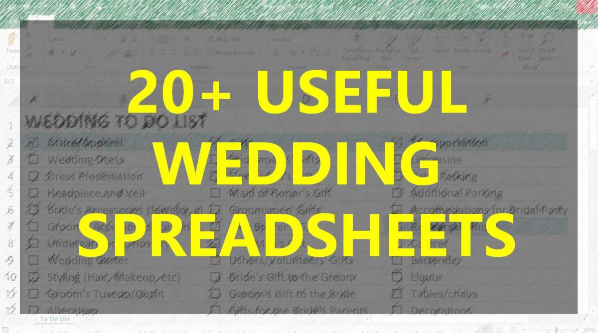 20 Useful Wedding Spreadsheets